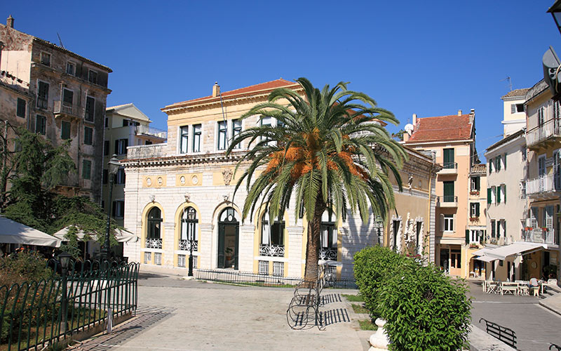 Corfu Town Hall Square